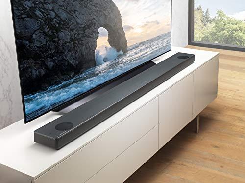 LG SL10YG - Barra de Sonido 5.1.2 con Tecnología Meridian (570 W, Asistente de Google en Español Integrado, Dolby Atmos, DTS:X, Hi-Res 24 bits/192 kHz, HDMI 2.0, Wi-Fi, Bluetooth, USB) Color Negro