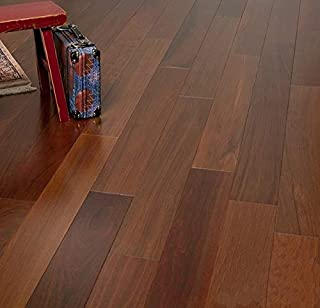 Brazilian Walnut Prefinished Engineered Wood Flooring, Sample, by Hurst Hardwoods
