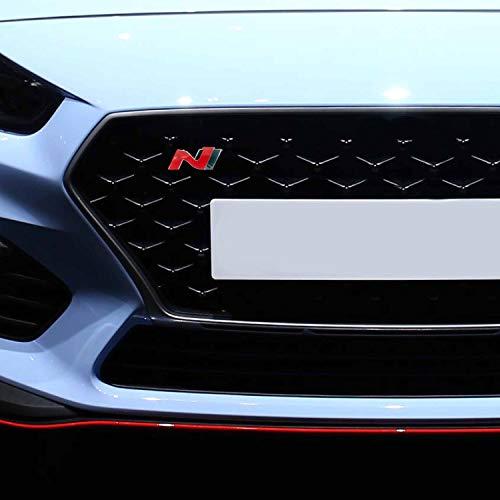 P043 | Emblem Cover N-Performance Kühlergrill 2er-Set Aufkleber | 3M 2080 Car Wrapping Folie | Car Styling | Dekorset V1 (Rot/Carbon/Schwarz)
