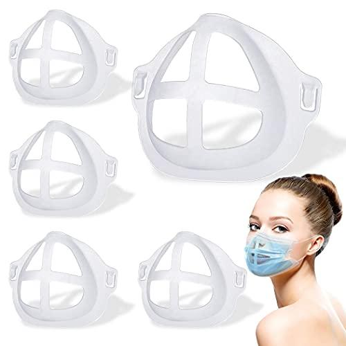 Soporte de protección frío – Soporte de máscara 3D – Marco de soporte interior de máscara – Soportes de plástico – Más espacio para una respiración cómoda, proteger el lápiz labial lavable reutilizable