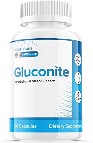 Gluconite Powder Blood Sugar Support Metabilezum Sleep for Diabetics Gluconate Iron Pills Extra Strength Potassium Zinc Supplement (60 Capsules)