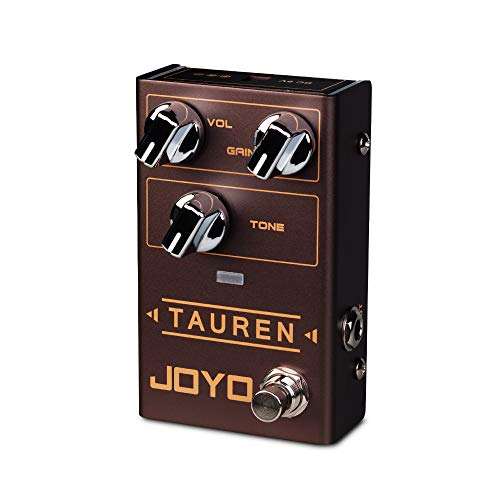 JOYO Tauren R-01 R Series High Gain Overdrive Pedal Clean Boost to Distortion for Electric Guitar Effect (R-01)