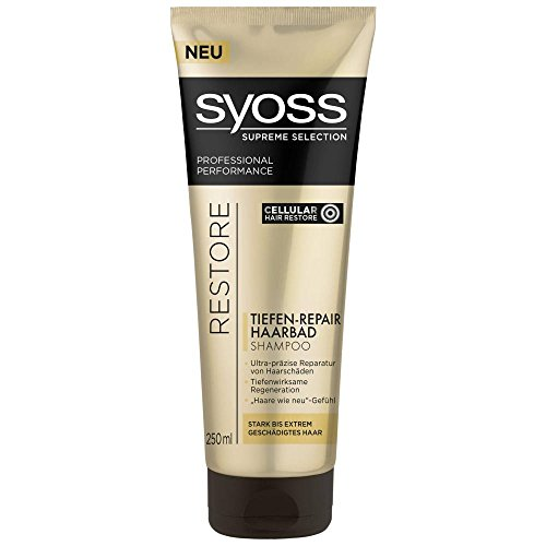 Syoss Supreme Collection Restore Tiefen-Repair Haarbad Shampoo (2 x 250ml)