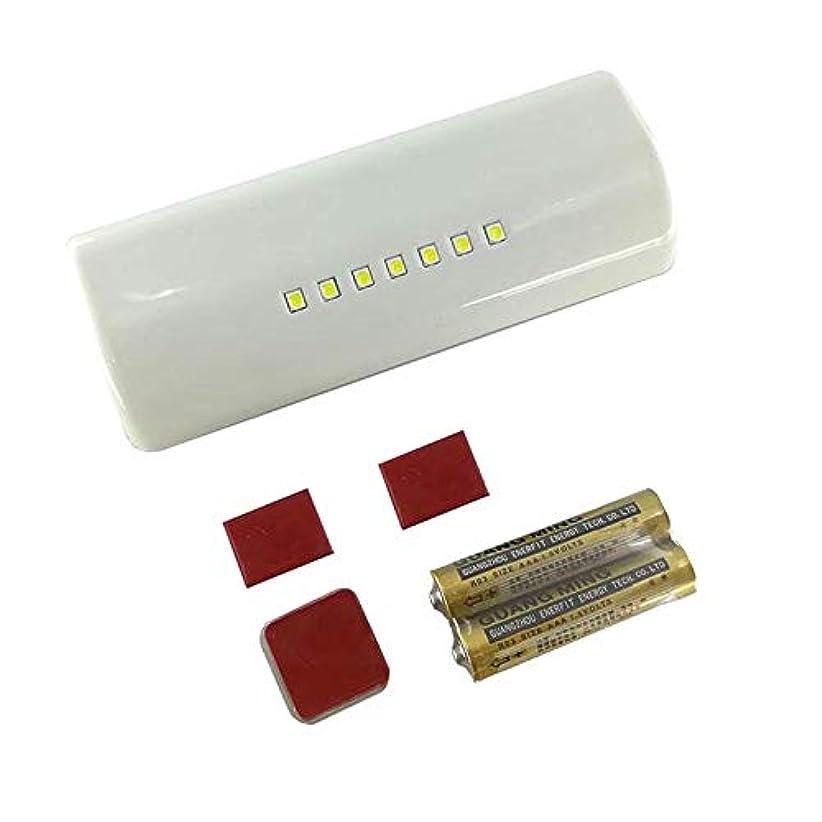 修理可能ビリー日光Xigeapg ユニバーサル自動LEDキャビネットセンサーライトキッチンクローゼット寝室リビング食器棚ワードローブ照明電池式白色光(グレーケース)
