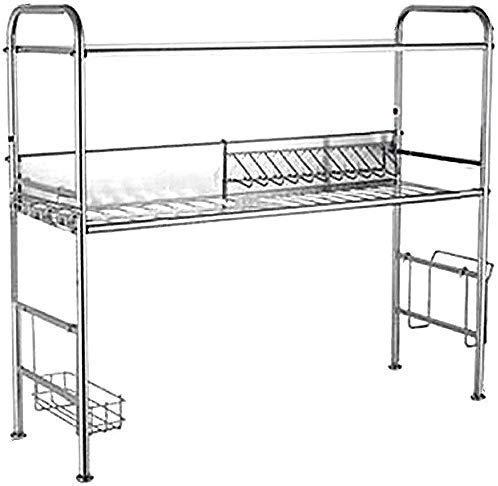 Spoelbak afdruiprek 304 roestvrij stalen geweven wapenmand keukenhuishouden plank (grootte: D) A