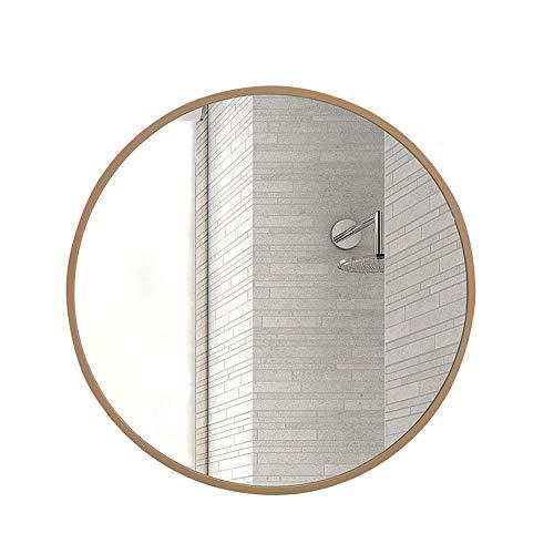 HU WU Badspiegel - Massivholzrahmen, HD-Spiegel, Wandhalterung, Größe optional
