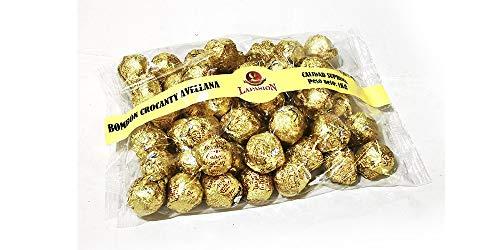 LAPASION - Bombon crocanti relleno de crema de cacao y avellana, cubierta de crocanti de almendra, cobertura de cacao y arroz inflado). Caja 2Kg