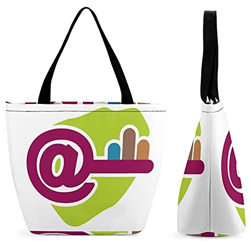 Key, IconCanvas - Bolso de mano para mujer, protección del medio ambiente, bolsa de compras de algodón reutilizable, bolsa de playa, bolsa de regalo, bolso de libro, bolsa de hombro