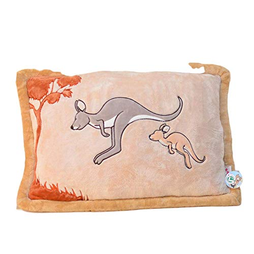 Generic Brands Sofa Pillow Can Be A Doll Kangaroo Pattern Pillow Plush Toy Pillow