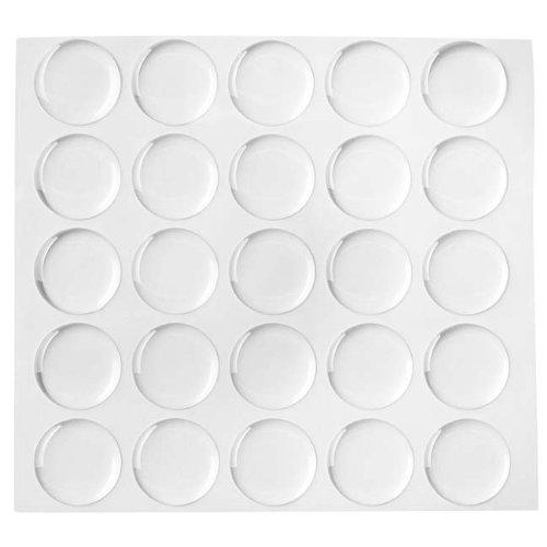 Beadaholique 100-Piece Epoxy Stickers for Bottle Cap Pendants, 1-Inch, Clear