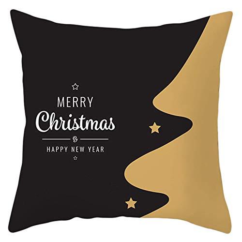 Nordic Feliz Navidad Letras lanzar Funda de Almohada Copo de Nieve Animal Digital Impreso al día de Fiesta Capacidad de la cojín Decorativa Peng (Color : 9)
