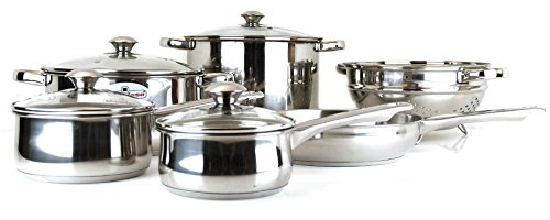 Magefesa Vesta Stainless Steel 10 Piece Cookware Set