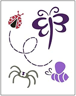 Faux Like a Pro Butterfly/Ladybug/Bumble Bee/Spider Stencil, 5.5 by 7-Inch, Single Overlay