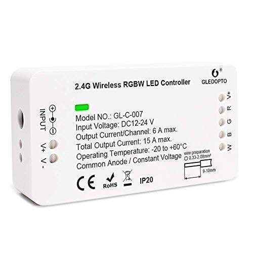 RGBW ZigBee Controller LED-Streifen-Controller Smart Dimmer Kompatibel mit Alexa, Google Home und vielen anderen ZigBee-zertifizierten Hubs für DC12-24V LED-Streifenleuchten