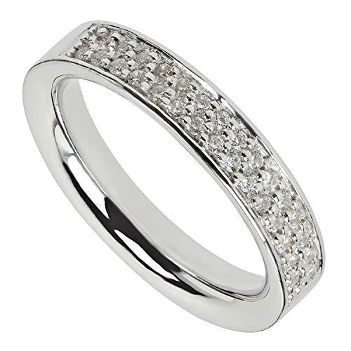 VIVENTY Damen Ring aus Silber 925 mit Zirkonia weiß 55
