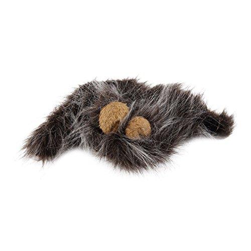Ballylelly Pet costume leone Mane parrucca per travestimento gatto Halloween festa di Natale con orecchio