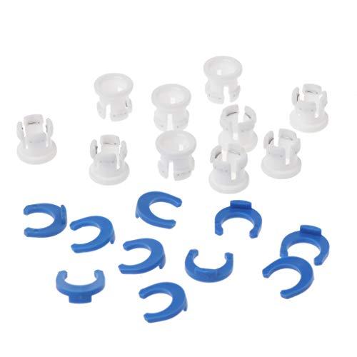 FXCO 10 Sätze Rohrschelle Bowden Rohrschelle Rohr Pferd Clip Feste 6mm 3D Drucker Teile Schuhkupplung Spannzange Teil