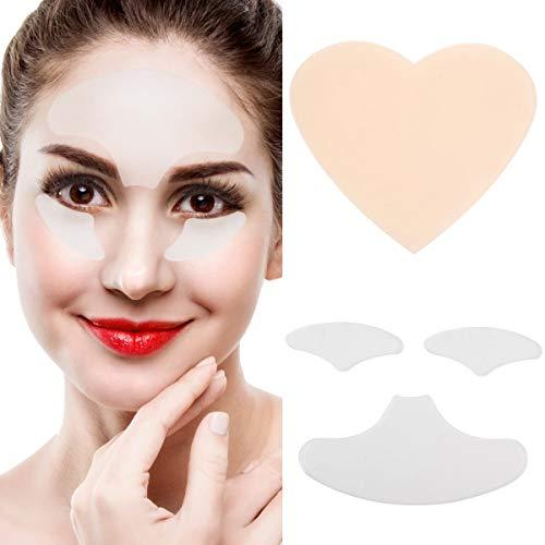 Coussin réutilisable de silicone d'anti vieillissement de ride de front/de poitrine de poitrine (Color : 3pcs/set Face Pad)