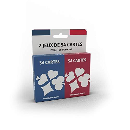 Cartamundi France Jeu de 2 x 54 Cartes - Fabriqué en France