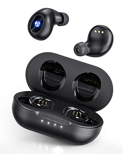 ワイヤレス イヤホン Bluetooth イヤホン iTeknic【2020年 最新版 瞬時接続】蓋を開けたら接続 自動ペアリング 30時間連続駆動 完全ワイヤレス イヤホン Bluetooth 5.0 AAC対応 イヤホンBluetooth 高音質 IPX7防水 片耳/両耳 ブルートゥース イヤホン ハンズフリー通話 技適認証済 (ブラック)iPhone Android 対応