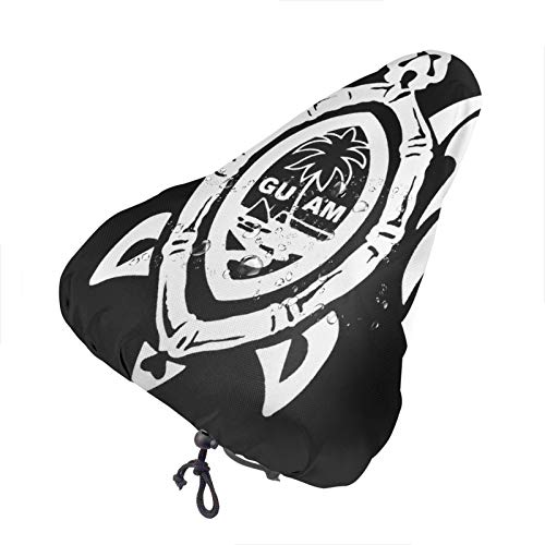 Ering6o Guam Seal In A Tribal Turtle Extra Soft Bicycle Seat -Bike Saddle Cushion With Water&Dust Resistant Cover
