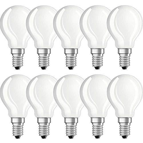10 x Neolux LED Filament Leuchtmittel Tropfen 2,8W = 25W E14 matt Retrofit warmweiß 2700K