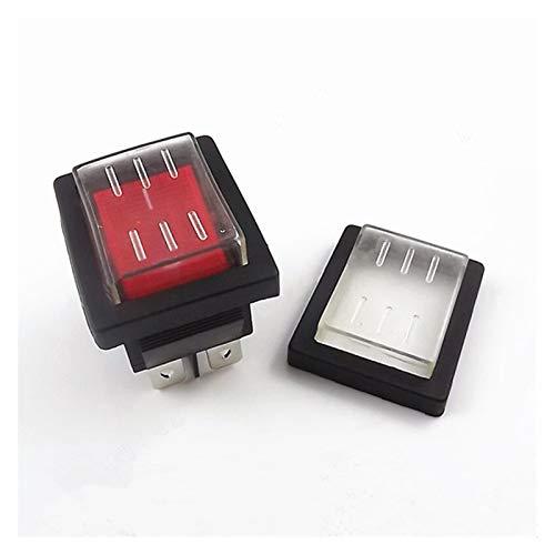 Botón KCD4 1 unids interruptor de interruptor de balancín Interruptor de alimentación + tapa de sellado suave impermeable transparente ON-OFF 4 PIN 16A 250VAC / 20A 125VAC ( Color : Blue )
