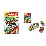 Mattel Games T1882 Skip-BO Junior Kartenspiel für Kinder, geeignet für 2 - 4 Spieler, Spieldauer ca. 30 Minuten, ab 5 Jahren & GKF04 - UNO Junior Kartenspiel für Kinder ab 3Jahren