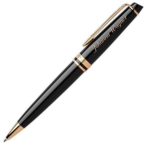 WATERMAN Kugelschreiber EXPERT Schwarz G.C. S0951700 mit persönlicher Laser-Gravur