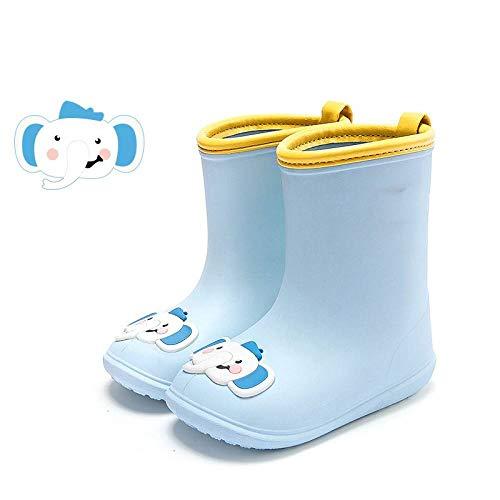 CRLST Regenstiefel Für Kinder,Mode Licht Wasserdicht rutschfest Schnelltrocknend Blue Elephant Muster Regen Schuhe Für Kinder Outdoor Reisen Grünland Camping Schritt Auf Dem Wasser, Foto, Interne Lä