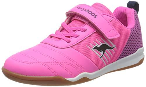 KangaROOS Unisex-Kinder Super Court EV Sneaker, Neon Pink/Fuchsia 6211, 31 EU