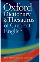 Oxford Dictionary and Thesaurus of Current English