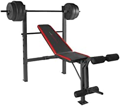 CAP Strength Standard Bench with 100 lb Weight Set