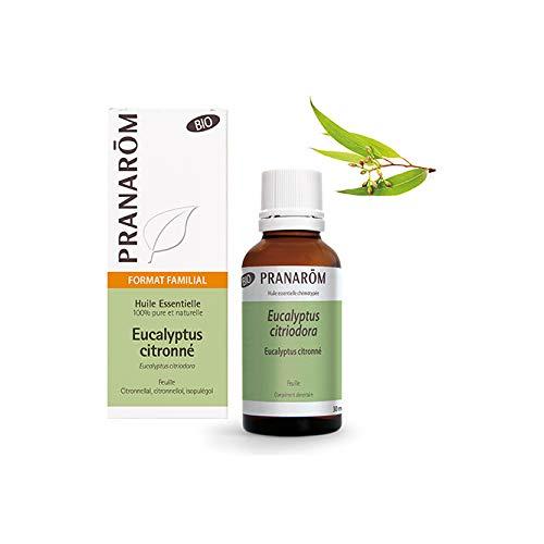 Pranarôm - Huile Essentielle d'Eucalyptus Citronné Bio - Format Familial - 30 ml