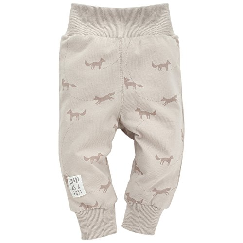 Pinokio - Smart Fox - Baby Hose 100prozent Baumwolle, Beige mit Fuchsmotiven - Jogginghose, Schlafhose, Leggins - elastischer B& (86)