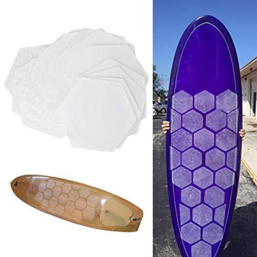 minifinker Tapete Antideslizante para Tabla de Surf Honey Comb Shape Hole 20 Piezas, para la mayoría de Las Tablas de Surf,