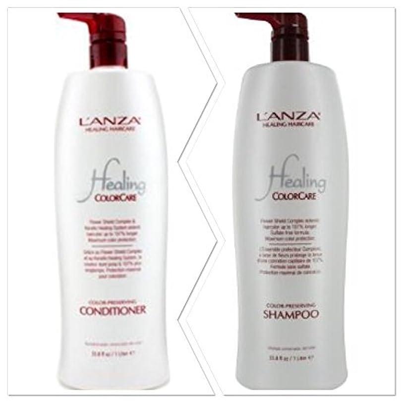 藤色消す前置詞L'anza Healing Colorcare Color-preserving Shampoo + Conditioner Dou (33.8 oz (1Liter)) by L'anza