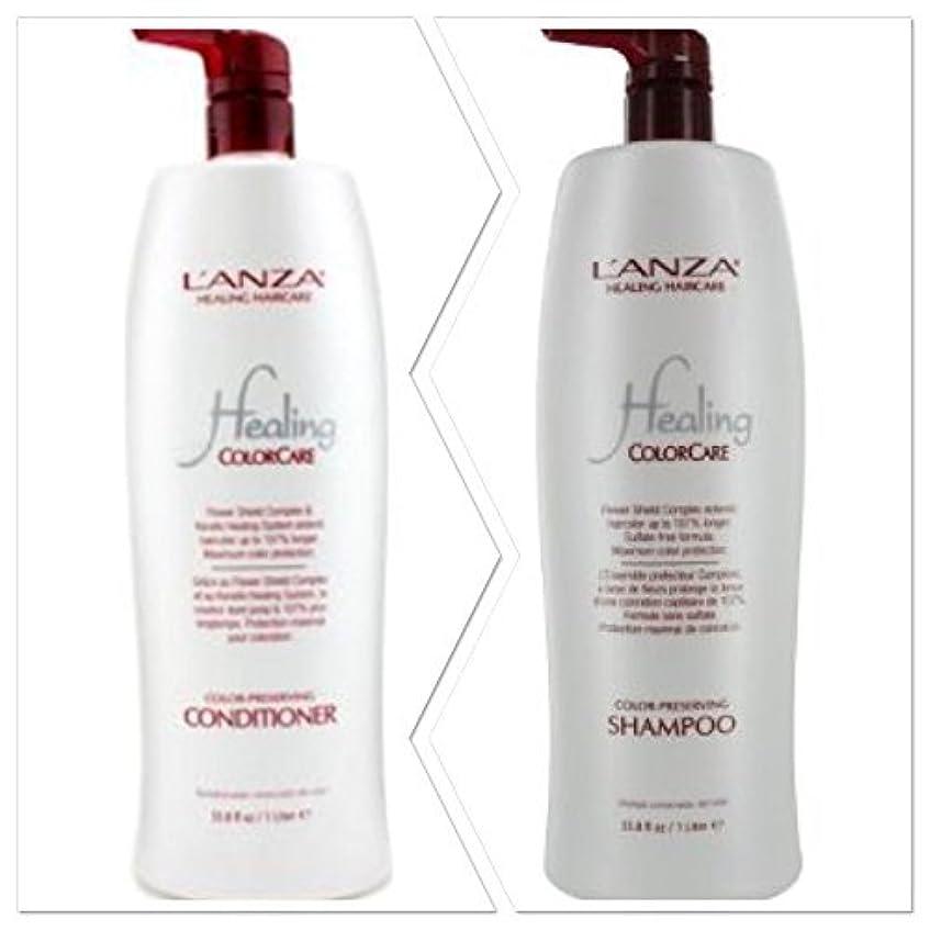 リンケージ出くわす速度L'anza Healing Colorcare Color-preserving Shampoo + Conditioner Dou (33.8 oz (1Liter)) by L'anza