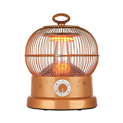DGEG Heizung, Mini Halogen Quarz Heizstrahler, 900W Sicherheits-Desktop-Haushalts-Elektroheizofen-Heizkörper-Wärmer-Maschinen-Fan Für Winter-Vogelkäfig (Farbe : Stepless knob Switch)