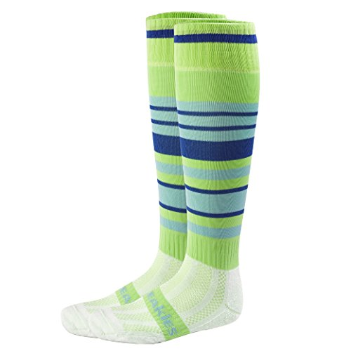 Freakies Herren Socken, Knielang, gestreift, Mehrfarbig, Herren, Multi Stripe UNO, Lime/Royal