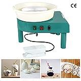 hukoer 350w ceramica ruota in ceramica che forma macchina strumento di argilla fai-da-te per argilla ceramica artigianato d'arte (green)