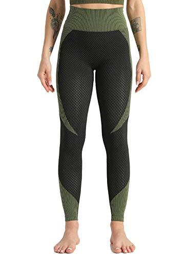 CORAFRITZ Pantalones de yoga de cintura alta para mujer, con control de barriga, para correr, mallas suaves, elásticos, para gimnasio, deportes, bodycon