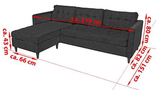 Ecksofa Couch –  günstig KMH® Gemütliches  Oslo Bild 4*