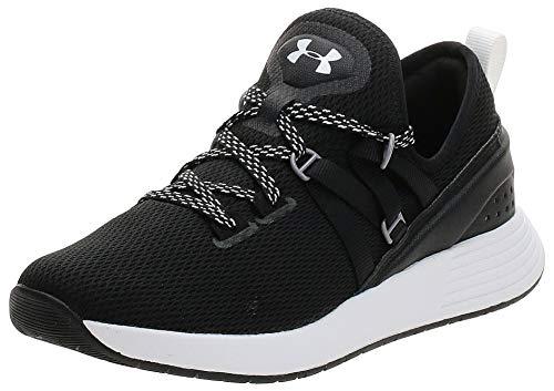 Under Armour Women's Breathe Trainer Sneaker, Black (001)/White, 12