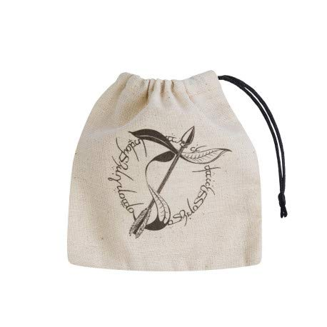 Q Workshop Elvish Beige & Black Basic Dice Bag