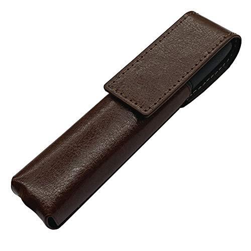 IQOS 3 専用 アイコス3 ケース (ブラウン) iQOSケース シンプル 無地 保護 カバー 収納 カバー 全13色 電子たばこ 合皮PUレザー