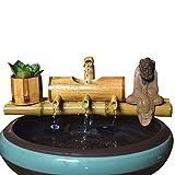 Bambú Acuario de Reciclado de Agua Feng Shui Decoración Tubo de Agua Fuente de Piedra Trough Filtro Oficina de Escritorio Mobiliario (Color : 40cm)