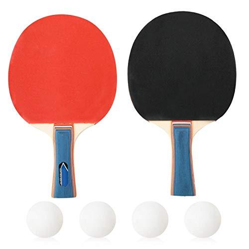 DAUERHAFT Raqueta de Ping Pong Buena resiliencia Durable para Principiantes(Pen-Hold Grip)