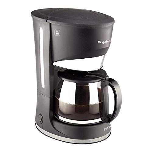 Magefesa 02CF3245000 Cafetera goteo 12 tazas Ristretto 800 W cups, Acero inoxidable, Multicolor