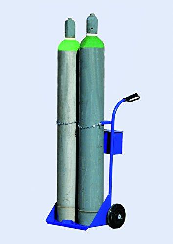 Carrello in acciaio porta bombole / bombola da 40 litri.